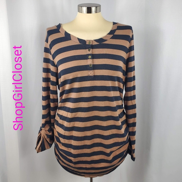 🆕️ Mom's The Word Striped Maternity Top - XL